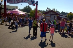 Kids heading toward our next activity at the Fair.